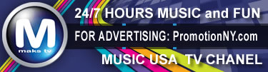 Russian american music MAKSTV USA CHANEL PromoionNY advertising