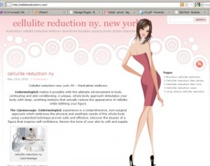 cellulite reduction New York NY website