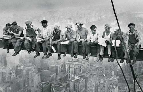 CConstruction Workers New York Rockefeller Center photo by Charles Ebbets