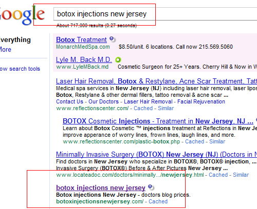 Botox Injections New Jersey Google July 2010