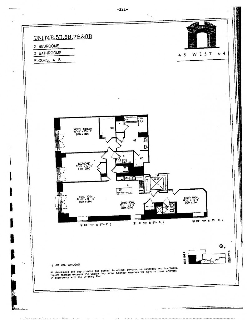 43 west 64 street fl plan Manhattan Apartment Price