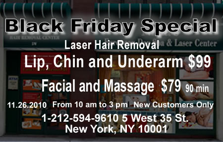 Black Friday Special Laser Hair Removal NYC