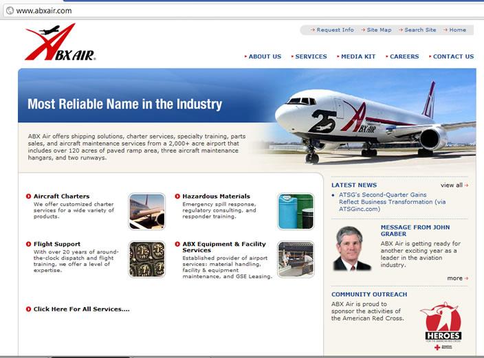 bx air webpage design