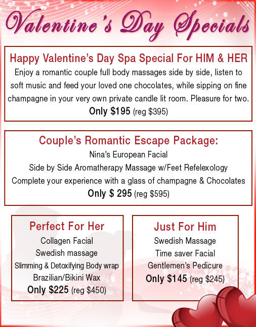 Valentines Day special NYC 2011.Make your order on the phone and for your