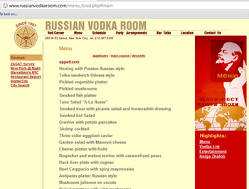 Russian Vodka Room New York NY