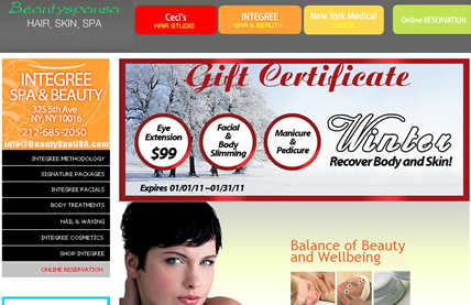 www.beautyspausa.com beauty spa usa.com webpage