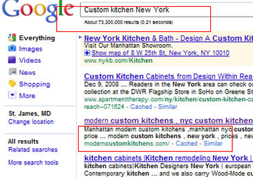 Custom kitchen New York NYC google May 2011