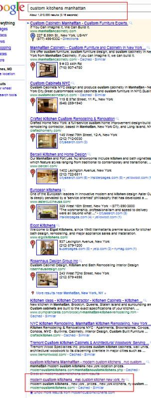 Custom kitchens Manhattan May 2011 Google