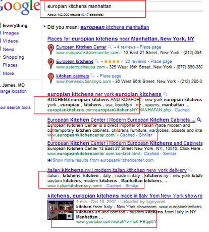 Europian kitchens Manhattan google May 2011