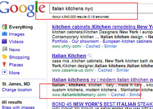 Italian kitchens NYC google May 2011