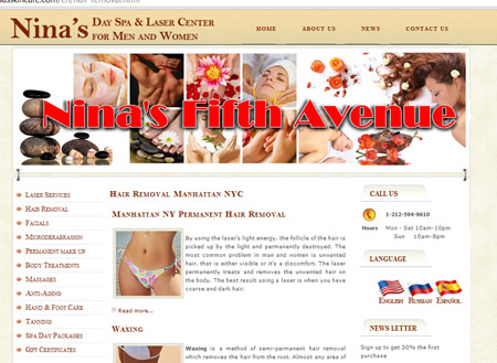 Laser hair removal NYC 2011 Ninas 5th Ave