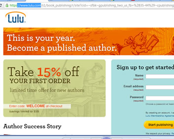 lulu publishing online book