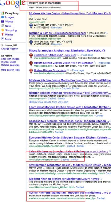 modern kitchen manhattan Google 2011 May