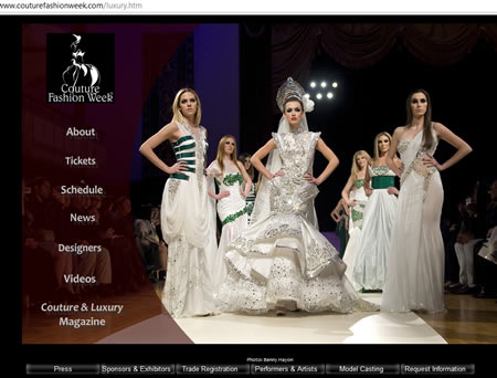 couturefashionweek.com show beauty website