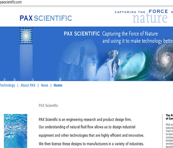 paxscientific.com engineering research and product design firm
