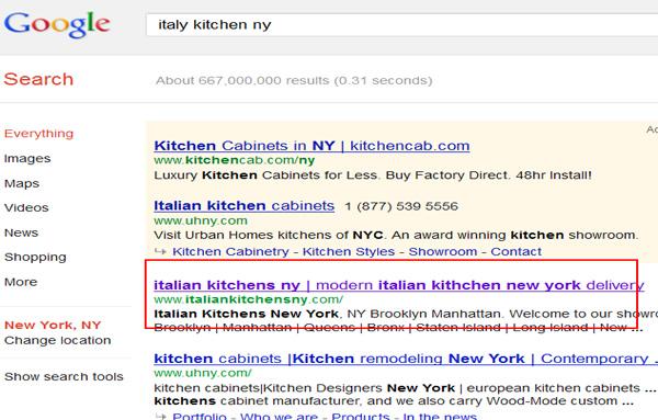 Italy kitchens New York
