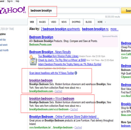 Bedroom Brooklyn Yahoo First Page Promotion