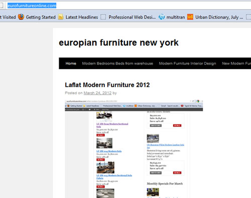 Euro Furniture Online Laflat Promotion