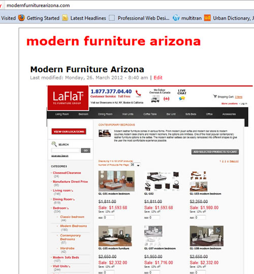 Modern Furniture Arizona Promotion