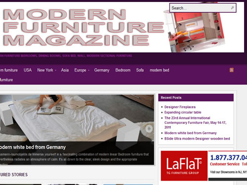 Modern Furniture Magazine Laflat Promotion 2012