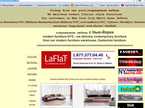 Modern Furniture NYC Laflat Promotion 2012