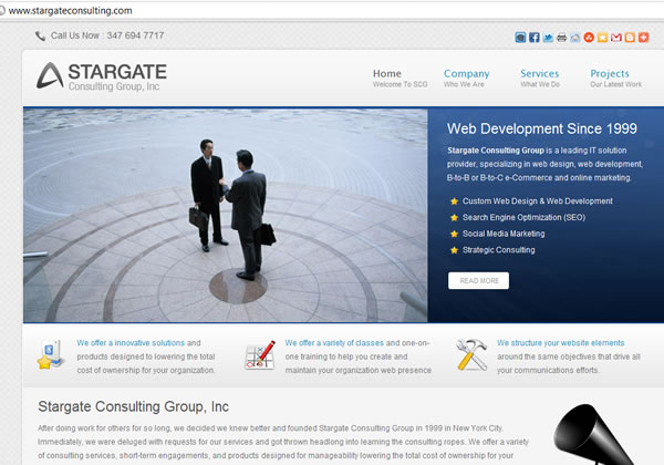 Srtategy Consulting Web design
