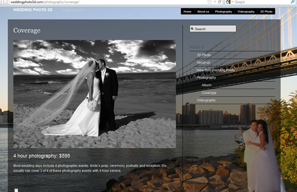 Wedding Photo 3D Photo Video Studio  Web Design