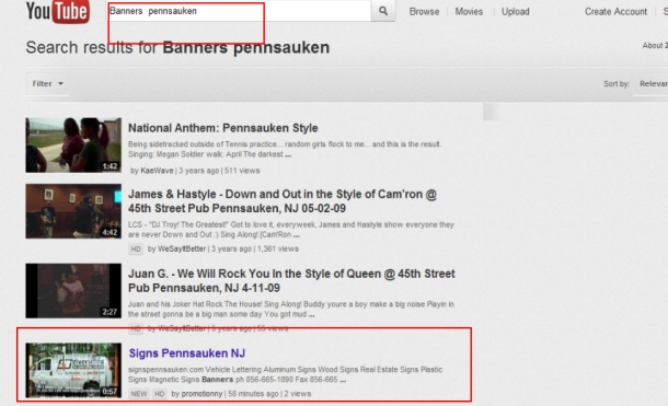 Banners  Pennsauken First Youtube Promotion NJ