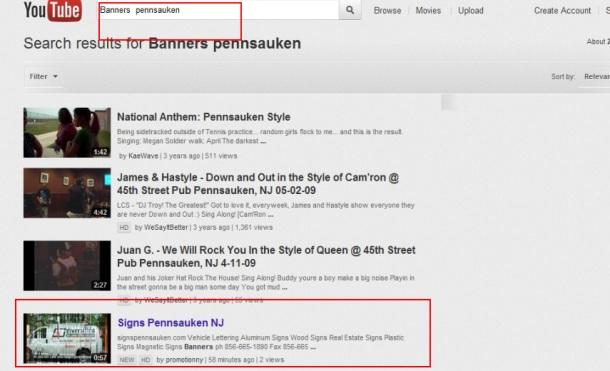 Banners  Pennsauken First Youtube Promotion NJ