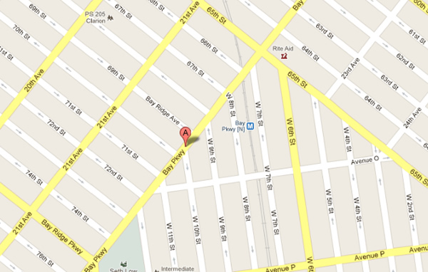 Dentist Brooklyn NY Map Brooklyn DDS Doctors Ave p Bay Parkway