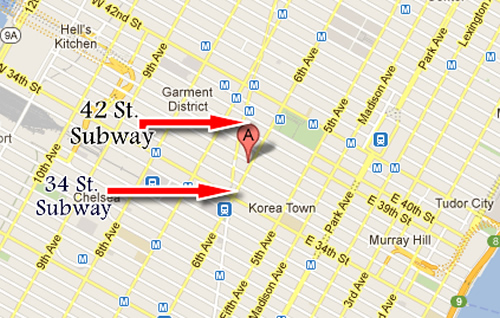 Iphone 4-4G Screen repair NYC Map