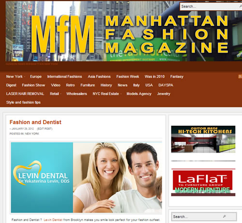 Fashion and Dentist promotion ny