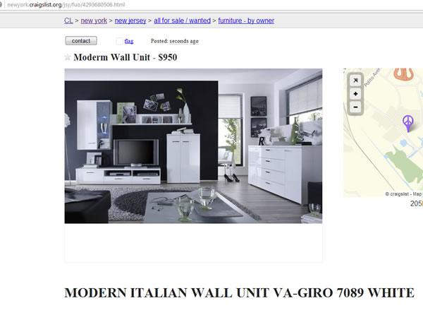 Moden Italian Wall7089 Craiglist Promotion NY